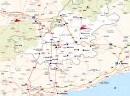 Mapa de la comarca de l'Alt Camp.